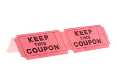 De coupon van Keer stock foto's