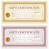 De couponmalplaatje van de certificaatgift Royalty-vrije Stock Fotografie