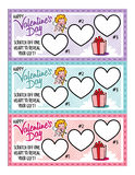 De Coupons van de de Dagliefde van Valentine ` s Stock Afbeelding
