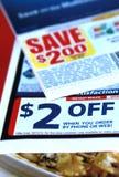 De coupons van de korting Royalty-vrije Stock Foto's