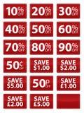 De Coupons van de verkoop Stock Afbeeldingen