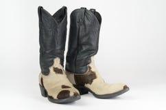De Cowboy Boots van de koehuid. Stock Fotografie