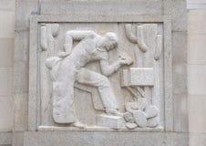 ` De cowboy de ` par Edmond Amateis, Robert N C Nix, Sr Bâtiment et bureau de poste fédéraux images libres de droits