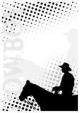 De cowboy stippelt afficheachtergrond stock illustratie