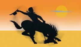 De Cowboy van de rodeo stock illustratie