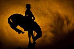 De Cowboy van de zonsondergang stock afbeelding