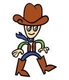 De cowboy van het beeldverhaal Stock Foto