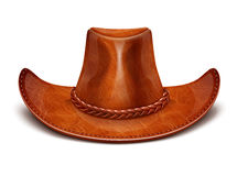 De cowboyhoed van de het leerhoed van de cowboy vector illustratie