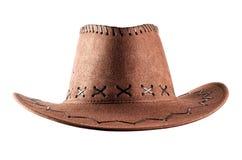 De cowboyhoed van het leer Stock Afbeeldingen