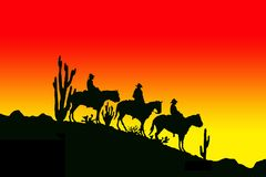 De cowboys van de boom royalty-vrije illustratie