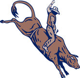 De cowboystier van de rodeo het berijden stock illustratie