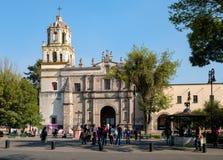 De Coyoacan-Kathedraal in Mexico-City stock fotografie