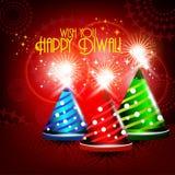 De crackers van Colorfull in glanzende het gloeien rode kleur voor diwalikaart DE Stock Afbeeldingen