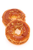 De crackers van de roomsandwich, doughnut Stock Afbeeldingen
