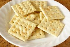 De Crackers van de soda Stock Afbeelding