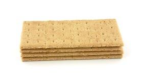 De crackers van Graham van de stapel Stock Afbeeldingen