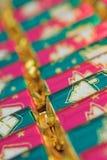 De crackers van Kerstmis stock afbeeldingen