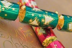 De crackers van Kerstmis royalty-vrije stock afbeelding