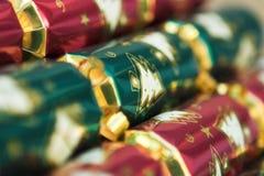 De crackers van Kerstmis royalty-vrije stock afbeeldingen