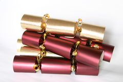De crackers van Kerstmis Stock Foto
