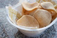 De crackersspaander van de garnaal. Royalty-vrije Stock Afbeeldingen