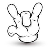 De Hand van het beeldverhaal - Middelvinger neer - VectorIllustratie Royalty-vrije Stock Afbeelding