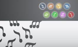 De creatieve achtergrond van de kleurenmuziek Royalty-vrije Stock Afbeelding