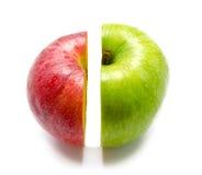 De creatieve appel combineerde van halve twee Stock Afbeelding