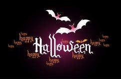 De creatieve banner van Halloween Stock Afbeeldingen