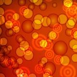 De creatieve concepten Vectorreeks cirkels van licht gloedeffect Royalty-vrije Stock Afbeeldingen