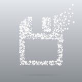 De creatieve diskette van het puntpictogram Stock Foto