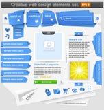 De creatieve geplaatste elementen van het Webontwerp Stock Afbeeldingen