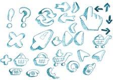 De creatieve geplaatste pictogrammen van ontwerpers Royalty-vrije Stock Foto