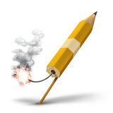 De creatieve lancering van de potloodraket royalty-vrije illustratie