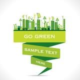 De creatieve milieuvriendelijke achtergrond van het stadsontwerp Stock Fotografie