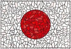 De creatieve nationale vlag van JAPAN Royalty-vrije Stock Foto's