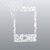 De creatieve telefoon van het puntpictogram Stock Afbeeldingen