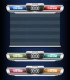 De creatieve vector grafische uitzending van het illustratie digitale scorebord geïsoleerd op transparante achtergrond Lager kuns royalty-vrije illustratie