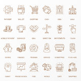 De creatieve Vlakke reeks van het lijnpictogram Stock Afbeeldingen