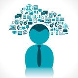 De creatieve wolk van het bedrijfspictogramontwerp vector illustratie