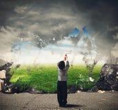 De creativiteit maakt schoon royalty-vrije stock foto