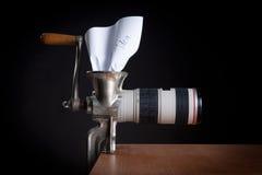 De creativiteit van de fotograaf Stock Foto