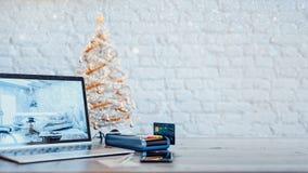 De creditcard en de de productverkoop en bevordering Stock Fotografie
