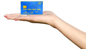De Creditcard van de handholding Stock Foto's