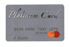 De Creditcard van het platina Royalty-vrije Stock Foto's