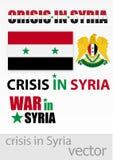 De crisis en de oorlog in Syrië Stock Foto
