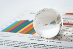 De crisis en de speculatie van de wereld Stock Afbeeldingen