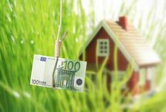 De crisis van de huisvesting. stock fotografie