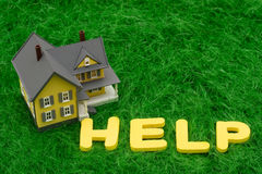 De Crisis van de hypotheek Stock Foto's