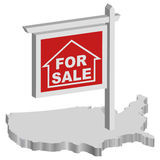 De crisis van de hypotheek Stock Foto
